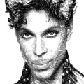 Prince - Tribute Sketch In Black And White by Rafael Salazar