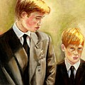 Prince William And Prince Harry by Carole Spandau