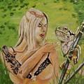 Princess And Frog by Judit Szalanczi
