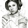 Princess Leia Portrait Carrie Fisher Art by Olga Shvartsur