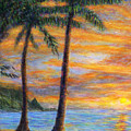 Princeville Beach Palms by Kenneth Grzesik