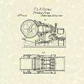 Printing Press Parkes 1856 Patent Art by Prior Art Design