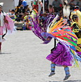 Prism Pink And Hyacinth Violet Purple Dancers At Native American Pow Wow by Colleen Cornelius