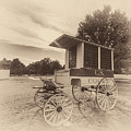 Prison Wagon In Sepia by James Barber