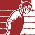 Prisoner Blindfolded by Aloysius Patrimonio