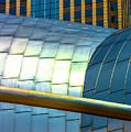 Pritzker Pavilion And Prudential Plaza Dsc2753 by Raymond Kunst