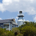Private Lighthouse On The Indian River Lagoon In  Melbourne Florida by Allan  Hughes
