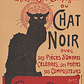 Prochainement La Tr?s Illustre Compagnie Du Chat Noir (poster For The Company Of The Black Cat) by Th?ophile Alexandre Steinlen