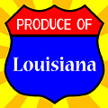 Produce Of Louisiana Shield by Bigalbaloo Stock