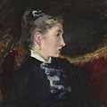 Profil De Jeune Fille by Edouard Manet