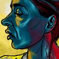 Profile In Blue by Michael Kallstrom