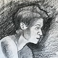 Profile Of A Black Woman by Alejandro Lopez-Tasso