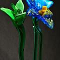 Profile Of Glass Flowers by Jennifer Wick