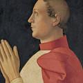 Profile Portrait Of Cardinal Philippe De Levis by Antoniazzo Romano