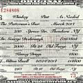 Prohibition Prescription Certificate Personalized by David Patterson