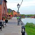 Promenade And Boats At Barton Marina by Rod Johnson