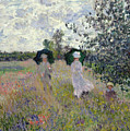 Promenade Near Argenteuil by Claude Monet