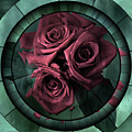 Promises Kept Contemporary Grunge Art Roses by Isabella Howard
