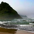 Proposal Rock At Neskowin Beach by Margaret Hood