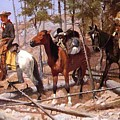 Prospecting For Cattle Range 1889 by Remington Frederic
