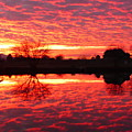 Dramatic Orange Sunset by Carol Groenen
