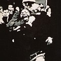 Protestor Yells To The Photographer During An Arrest 1968 by Lauren Luna