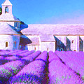 Provence Lavender And Old Abbey by Dominic Piperata