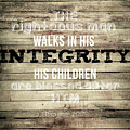 Proverbs 20 7 by Andrea Anderegg