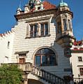 Pruhonice Castle Side View by Jenny Rainbow