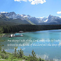 Psalm 27 With Maligne Lake by Linda Feinberg