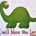 Psalm 34 Dinosaur by Ashlee Tolleson
