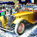 Psychedelic 1930 Jaguar Ss1 At London Classic Car Show 2015 by Peter Lloyd