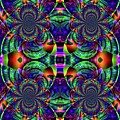 Psychedelic Abstract Kaleidoscope by Ted Duvall