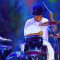 Drummer Painting by Eduardo Tavares