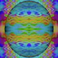Psychedelic Egg Groovy by Chellie Bock
