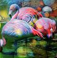 Psychedelic Ibis by Ombretta Lanari