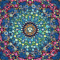 Psychedelic Mandala by Mike Butler