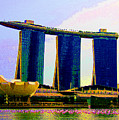 Psychedelic Marina Bay Sands Hotel Singapore by Peter Lloyd