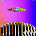 Psychedelic Morgan 4/4 Badge And Radiator by Peter Lloyd