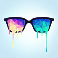 Psychedelic Nerd Glasses With Melting Lsd Trippy Color Triangles by Philipp Rietz