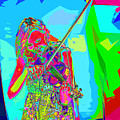 Psychedelic Violinist by C H Apperson