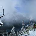 Ptarmigan Trail Overlooking Elizabeth Lake 2 - Glacier National Park by Bruce Lemons