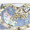 Ptolemaic World Map, 1493 by Granger