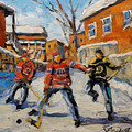 Puck Control Hockey Kids Created By Prankearts by Richard T Pranke