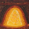 Pueblo Kiva Fireplace Original Painting by Sol Luckman