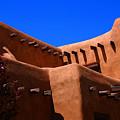 Pueblo Revival Style Architecture In Santa Fe by Susanne Van Hulst