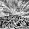 Pueblo Storm Clouds by Karen Seargeant