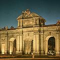 Puerta De Alcala Night by Joan Carroll