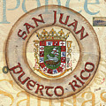Puerto Rico Coat Of Arms by Debbie DeWitt