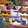 Puerto Vallarta Hillside by Candy Mayer
